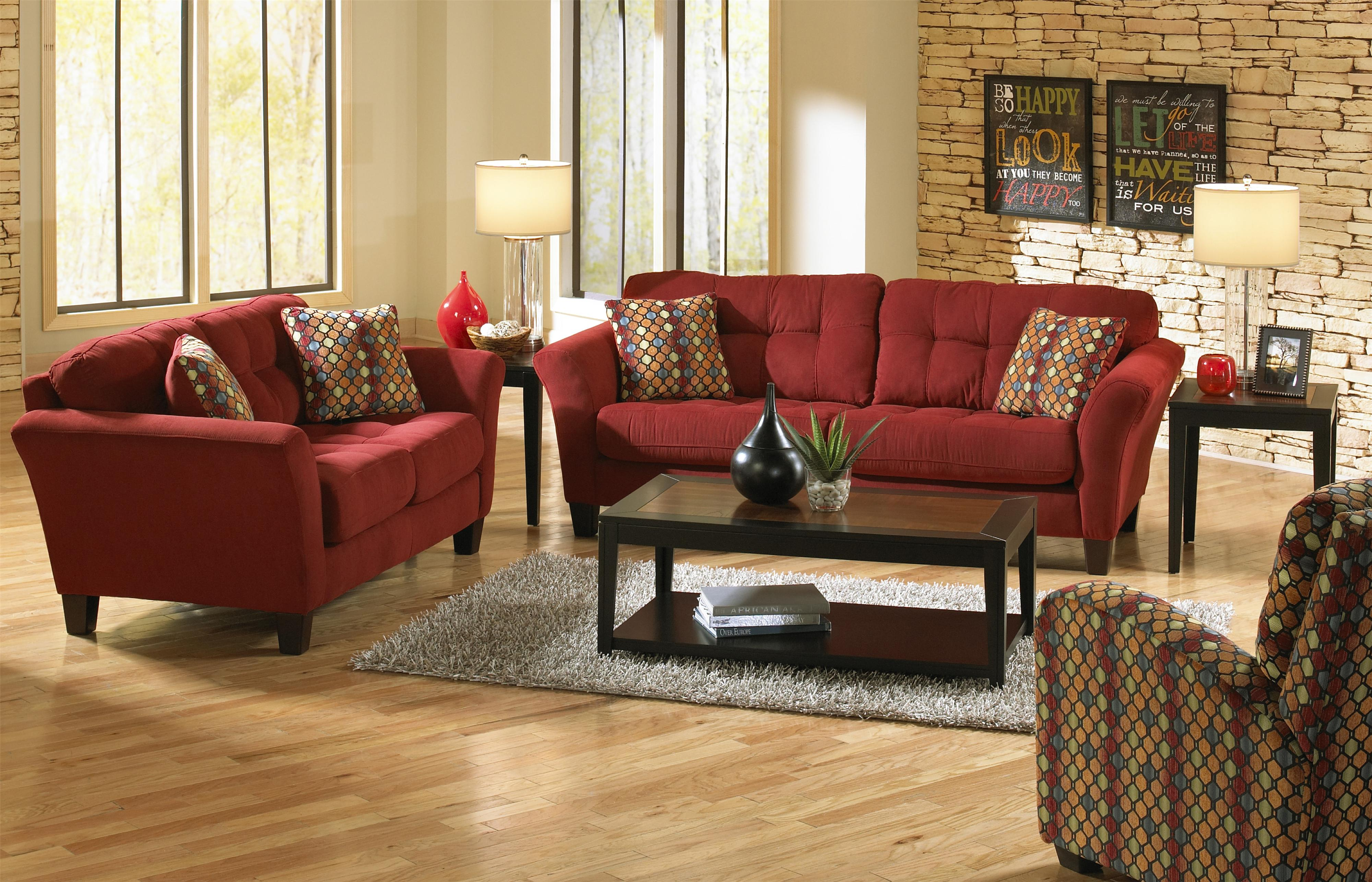 jackson living room furniture sofa with 2 seats and tufted back cushions by jackson 14993