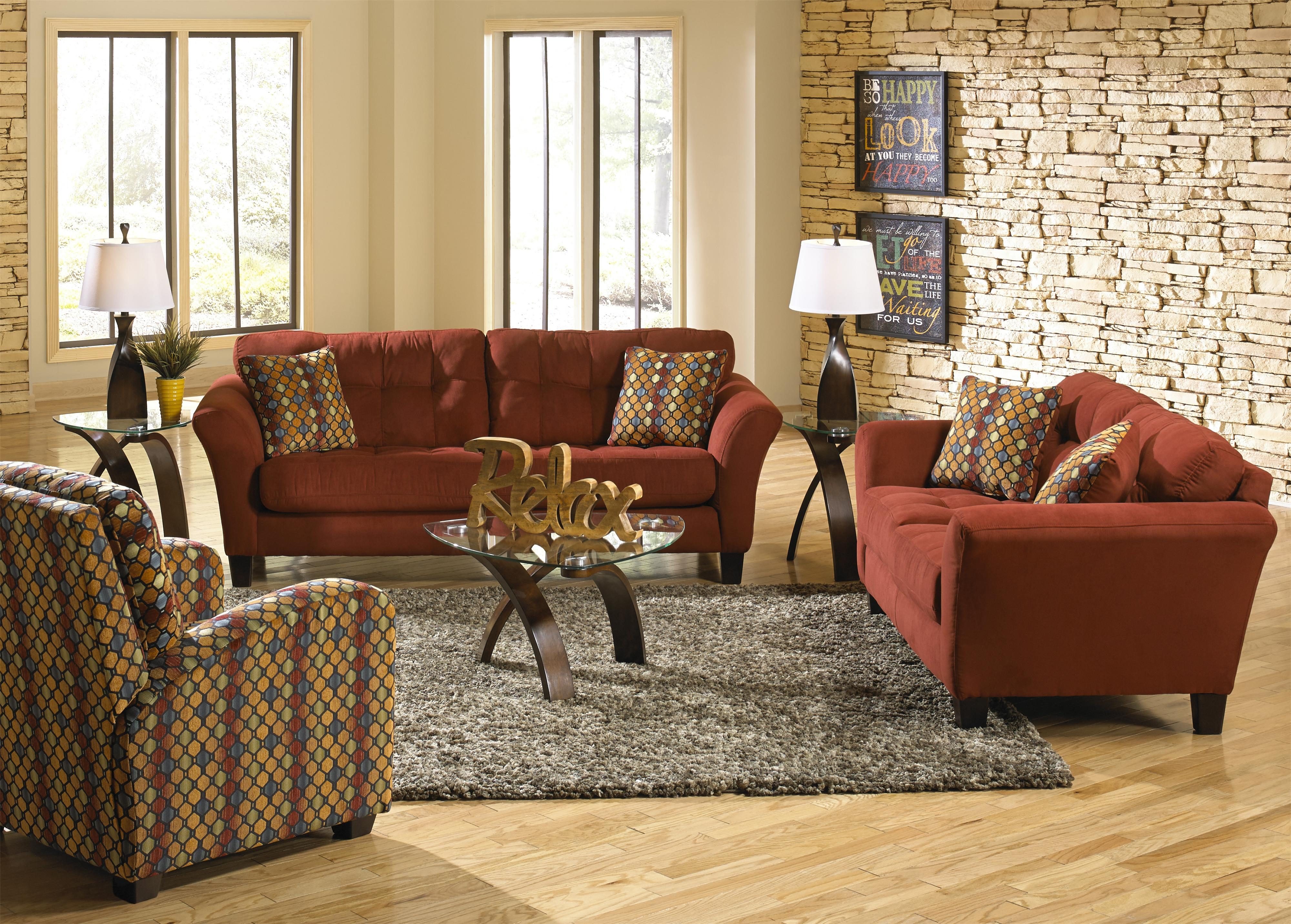 Sofa With 2 Seats And Tufted Back Cushions By Jackson Furniture Kylee Lagoon Living Room