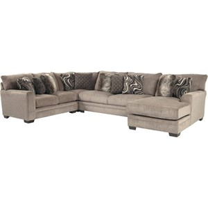 Contemporary U-Shaped Sectional with Chaise