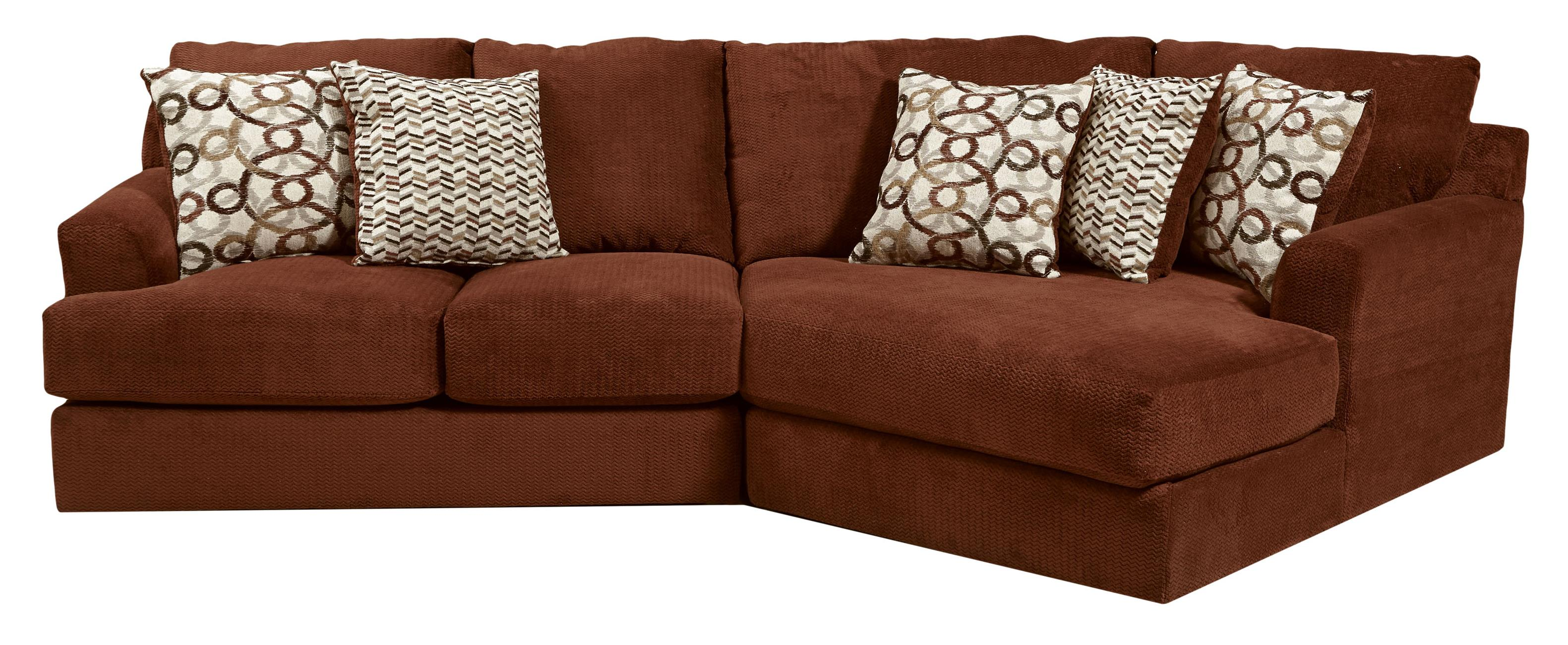 Small Three Seat Sectional Sofa by Jackson Furniture | Wolf Furniture