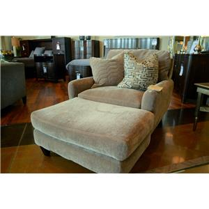 Jackson Furniture Mulholland Casual Contemporary Chair and Ottoman