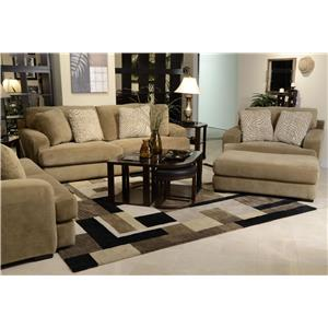 Jackson Furniture Palisades Palisades Casual Modern Sofa & Loveseat