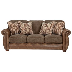 Traditional Styled Queen Sleeper Sofa