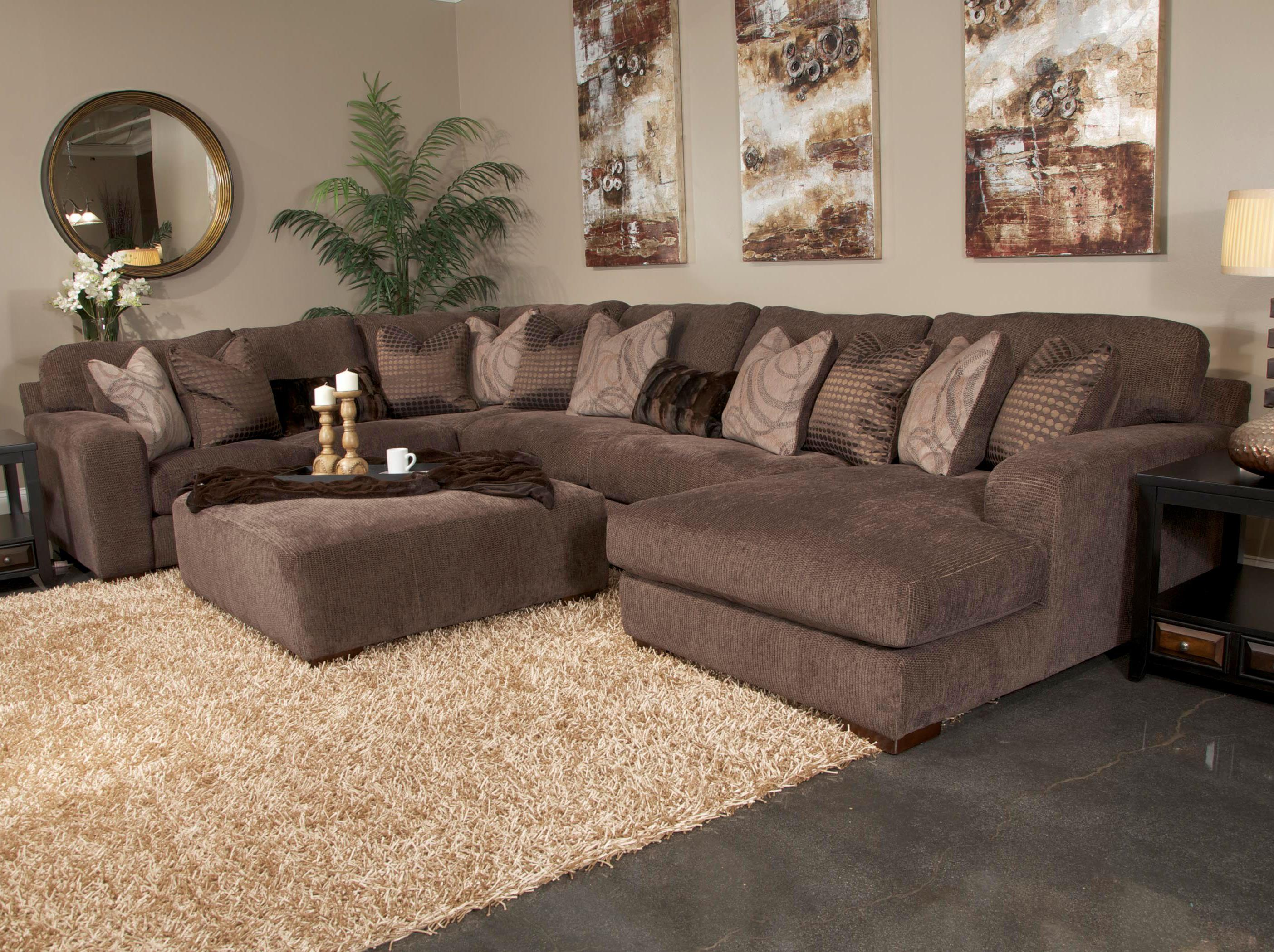 Five Seat Sectional Sofa with Chaise on Right Side by Jackson