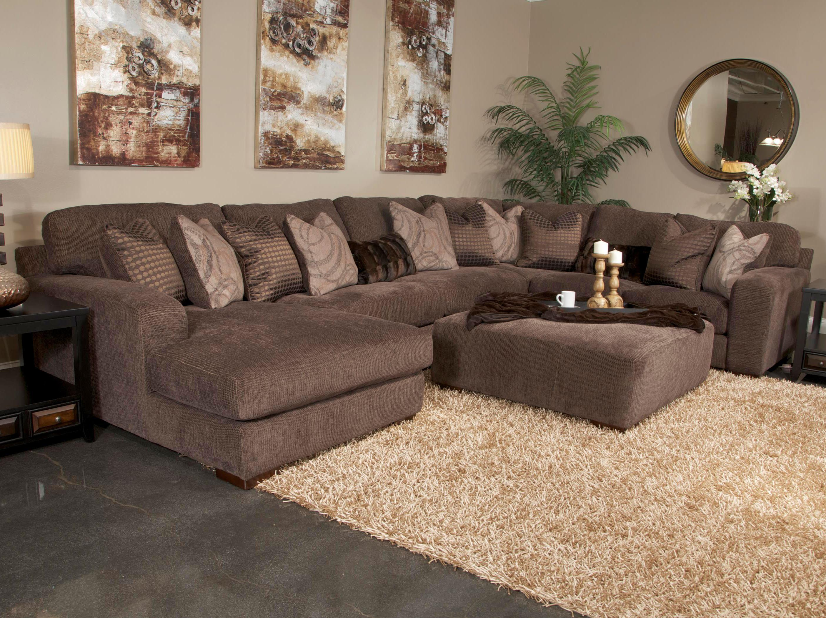 Five Seat Sectional Sofa with Chaise on Left Side by Jackson