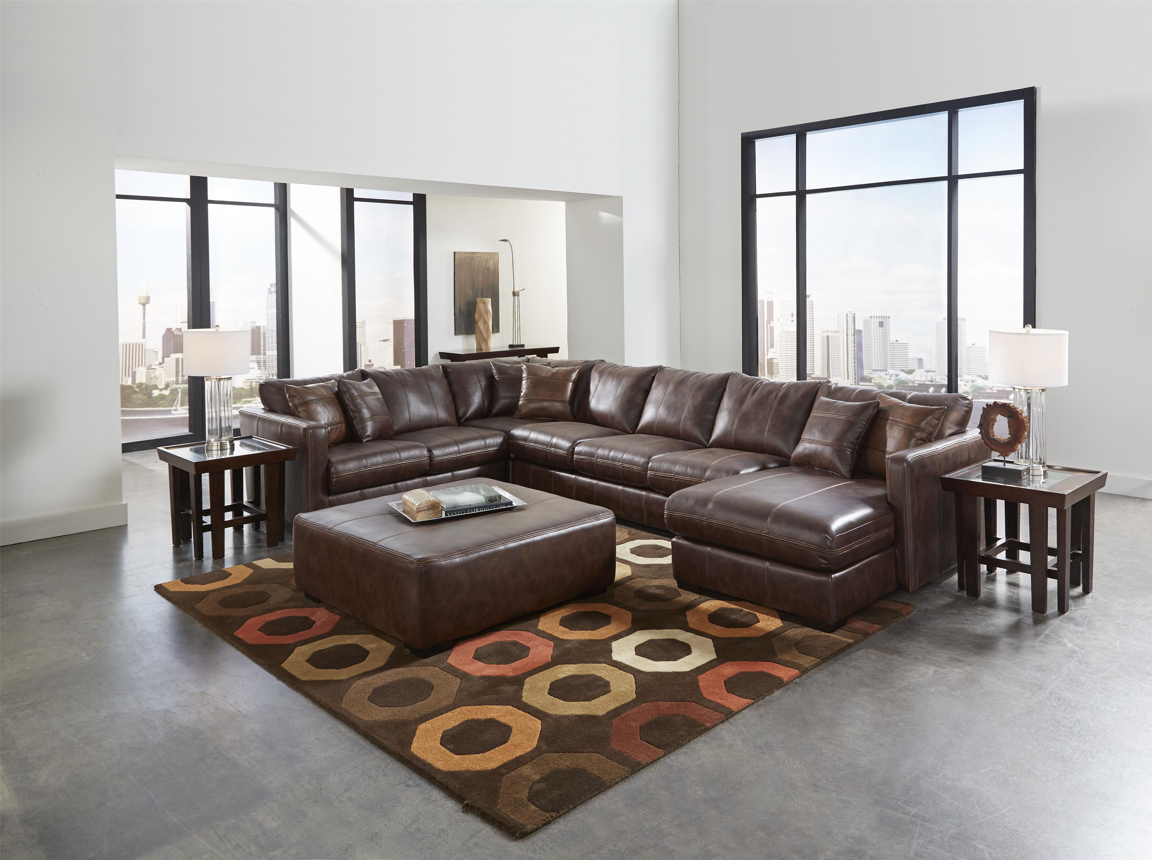 Sectional Sofa with Six Seats one is a chaise by Jackson