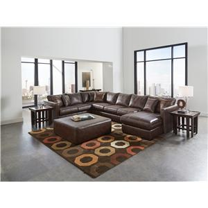 Jackson Furniture Tucker Sectional with Six Seats (one is a chaise)