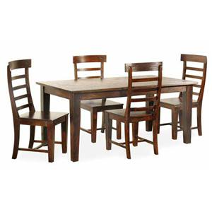 Jaipur Furniture Vienna Dining Table and 4 Side Chairs