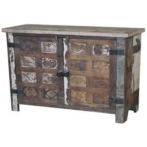 Jaipur Furniture Guru 2 Door Print Block Sideboard