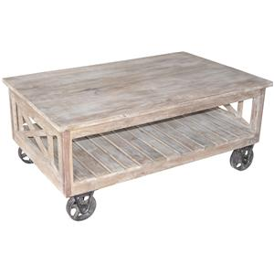 Jaipur Furniture Guru Wheeled Coffee Table