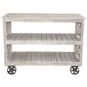 Jaipur Furniture Guru Wheeled Console Table Bookcase