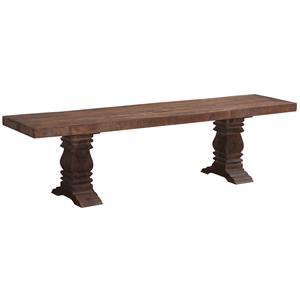 Jaipur Furniture Guru Guru Vintage Pedestal Dining Bench