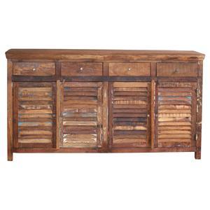 Jaipur Furniture Guru Guru Shutter 4-Drawer, 4-Door Sideboard