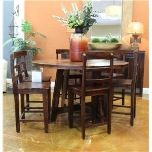 Jaipur Furniture Vienna Haveli Tahoe Round Counter Table & 6 Ladderb