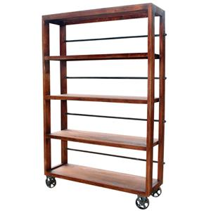 Jaipur Furniture Vintage Vintage Wheel Bookcase