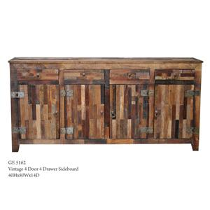 Jaipur Furniture Vintage 4-Door 4-Drawer Sideboard