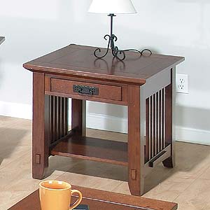 Jofran Vejo Brown Mission Oak End Table