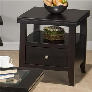Jofran Marlon Wenge End Table
