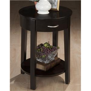 Jofran Dark Merlot Round Chairside Table