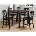 5 Pack Counter Table and Stool Set