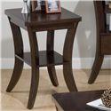 Jofran Joe's Espresso Chairside Table - Item Number: 328-7