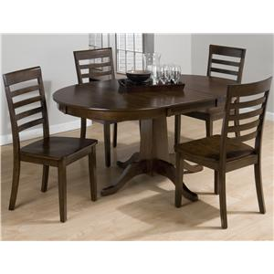 Jofran Taylor Cherry 5 Piece Table & Chair Set