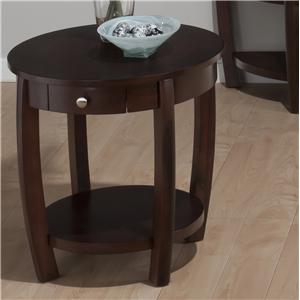 Jofran Riverside Brown Walnut End Table