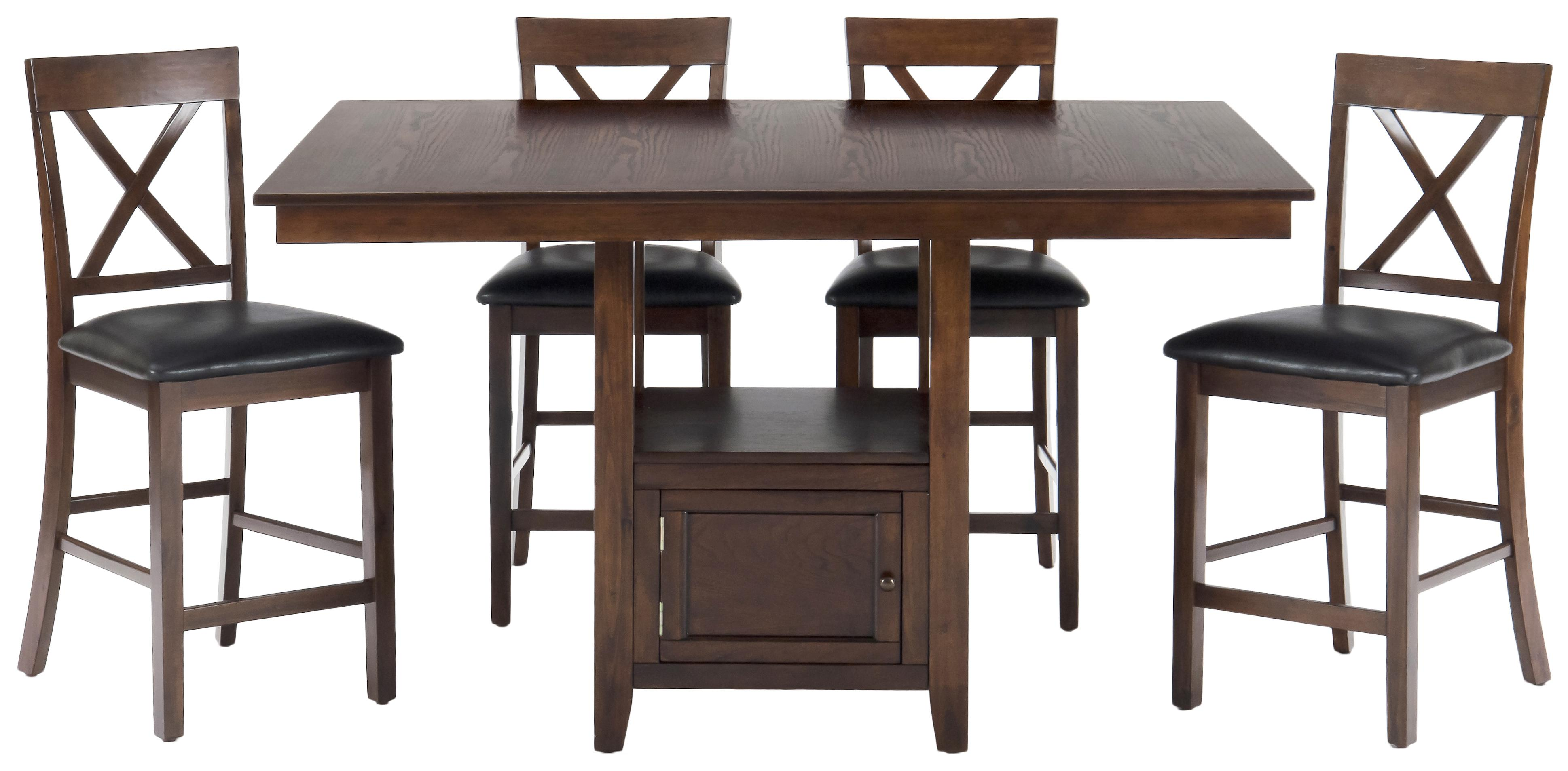 5 Piece Casual Counter Height Pedestal Table Amp X Back