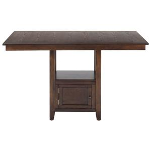 Jofran Olsen Oak Counter Height Table with Storage Base