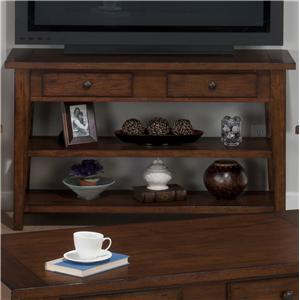 Jofran Clay County Oak Sofa/Media Table