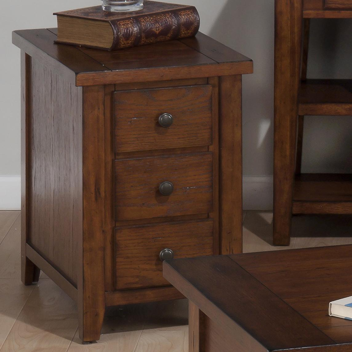 Chairside Table With 3 Drawers By Jofran Wolf Furniture