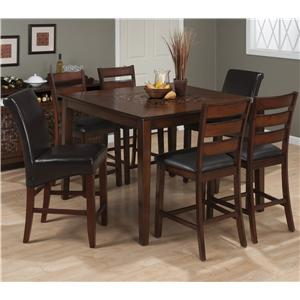 Jofran Baroque Brown Pub Table and Chair Set with Mosaic Tiles