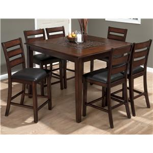 Pub Table and Slat Back Chair SetJofran Pub Table And Stool Set   Find a Local Furniture Store with  . Pub Style Dining Table With 6 Chairs. Home Design Ideas