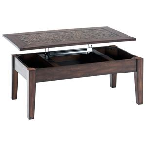 Jofran Baroque Brown Lift Top Cocktail Table