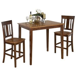 Jofran Kura Espresso and Canyon Gold 3-Piece Dining Table