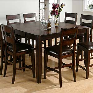 Jofran Dark Rustic Prairie Counter Height Table