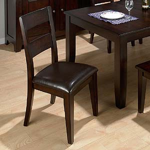 Jofran Dark Rustic Prairie Ladderback Side Chair
