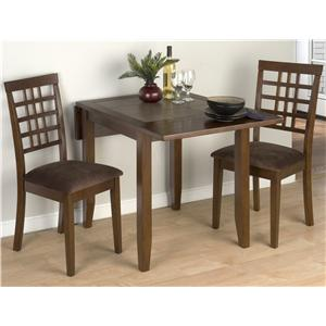Jofran Caleb Brown 3 Piece Table and Chair Set