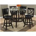 42in. Round Pub Table with Glass Top Set