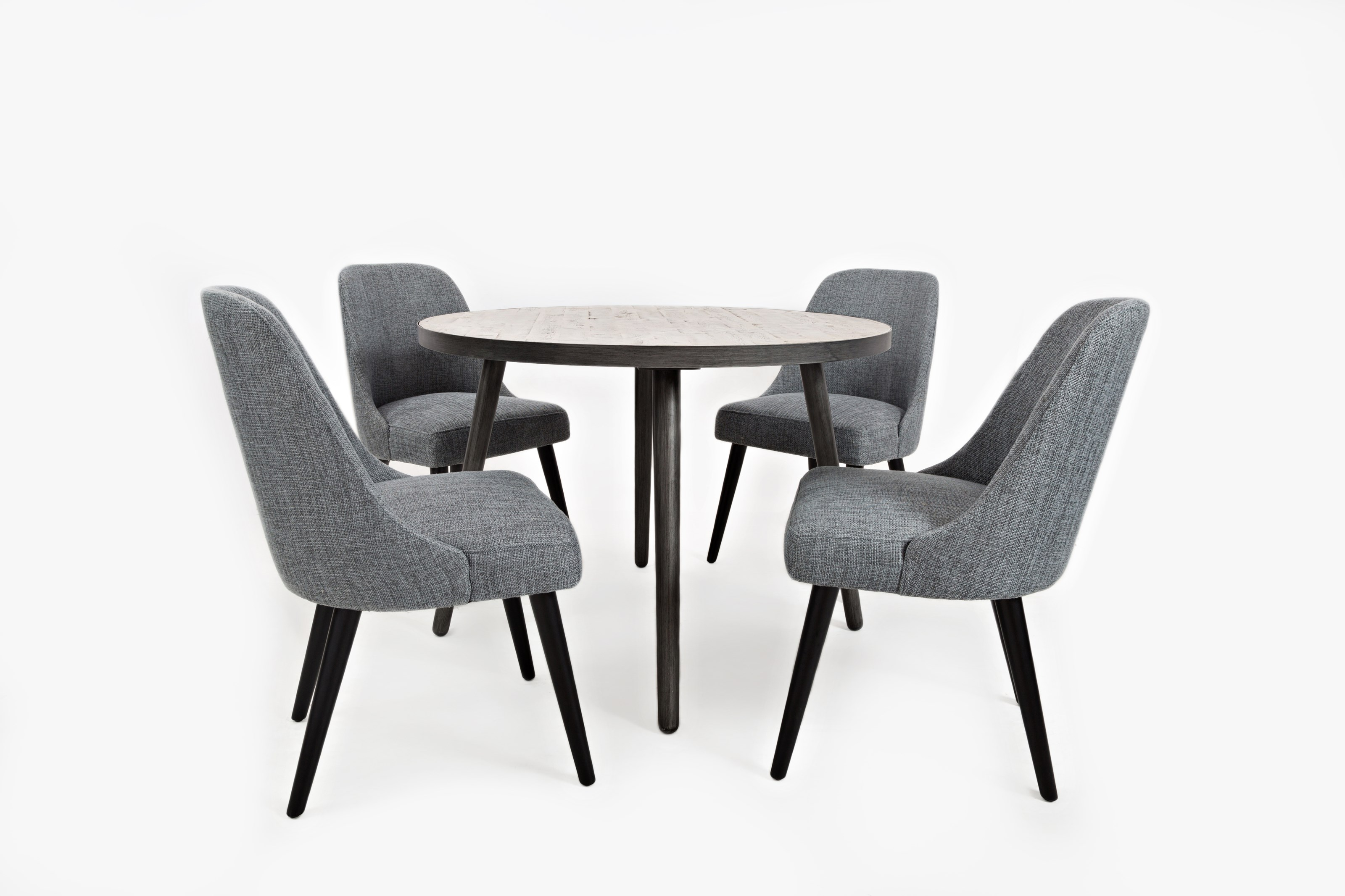 Round Dining Table And Chair Set By Jofran Wolf And Gardiner - 42 round black dining table