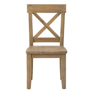 "Jofran Boulder Ridge ""X"" Back Side Chair"