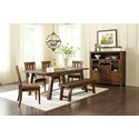 Jofran Cannon Valley Trestle Dining Table