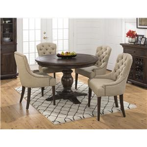 Jofran Evelyn 5PC Table and Upholstered Chair Set