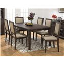 Jofran Geneva Hills Wire-Brushed Dining Table that Seats 6 with Removable Leaf