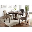 Jofran Geneva Hills Upholstered Side Chair with Tufted Back