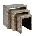 Jofran Global Archive Capiz Basket Weave Nesting Tables (Set of 3)
