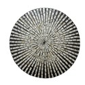 Jofran Global Archive Round Capiz Accent Table - Table Top Detail Shot