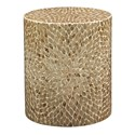 Jofran Global Archive Round Capiz Accent Table