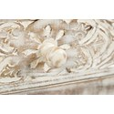 Jofran Global Archive Hand Carved Accent Table - Drawer Knob Detail Shot