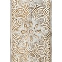 Jofran Global Archive Hand Carved Accent Chest - Carved Accent Detail Shot